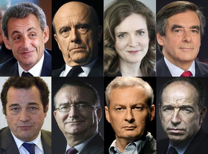 Les 8 candidats à la primaire de la droite.