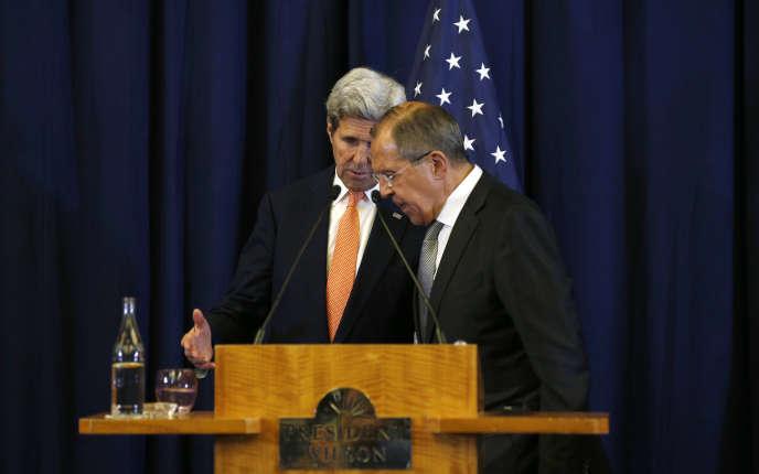John Kerry et Sergueï Lavrov à Genève.
