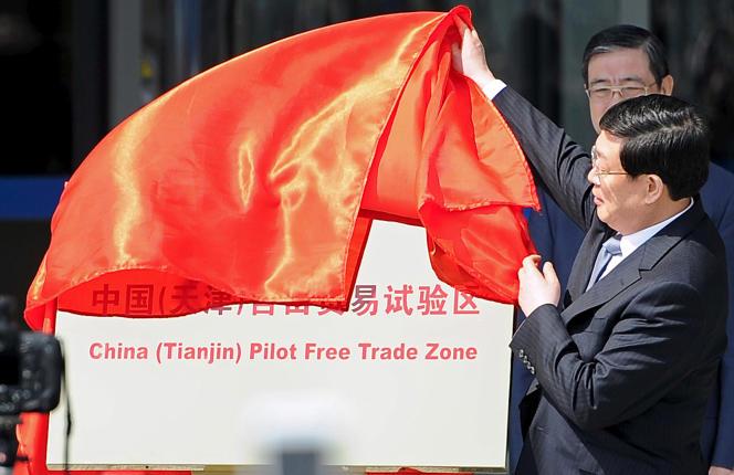 Le maire de Tianjin le 21 avril 2015, lors d'une cérémonie.