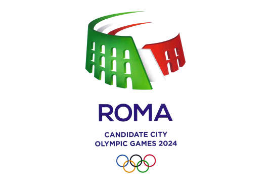 Le logo de la candidature de la ville de Rome aux JO 2024.