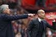Manchester City, entraîné par Pep Guardiola, l'emporte sur la pelouse de Manchester United, entraîné parJosé Mourinho (1-2), le 10 septembre.