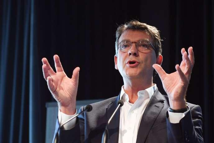 Arnaud Montebourg, nouveau candidat à la primaire de la gauche, le 11 septembre à La Rochelle.