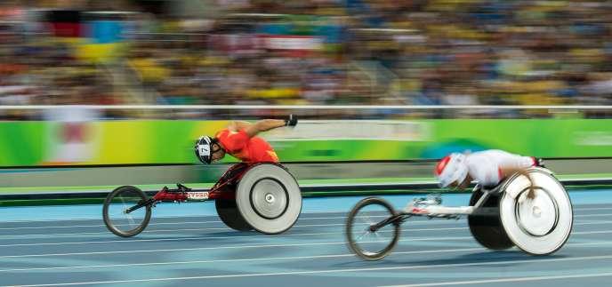 Lors de l'épreuve du 400 m hommes à Rio le 11 septembre.