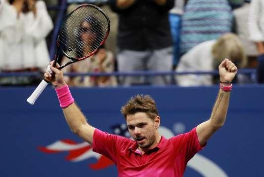 Le Suisse Stan Wawrinka après sa victoire en finale de l'US Open face au Serbe Novak Djokovic, le 11 septembre.