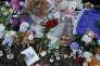 Nice deux mois aprés les attentats,kiosque à musique du Jardin Albert 1er transformé en mausolée le 08/09/2016