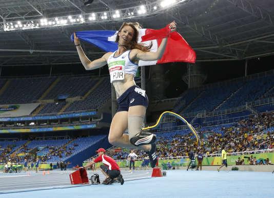 Rayonnante, après sa victoire sur 400 mètres le 12 septembre à Rio.