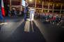 François Hollande fait un discours à la salle Wagram à Paris le jeudi 8 septembre.