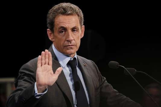 Nicolas Sarkozy en meeting à Provins, le 12 septembre 2016.