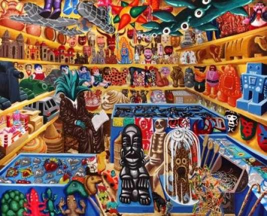 Hervé Di Rosa,« Cabinet du Docteur Maguey», 2000, acrylique sur toile (220 x 246 cm).