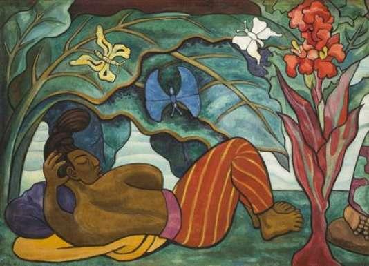 Diego Rivera, «Río Juchitán»(1953-1955), Museo Nacional de Arte.