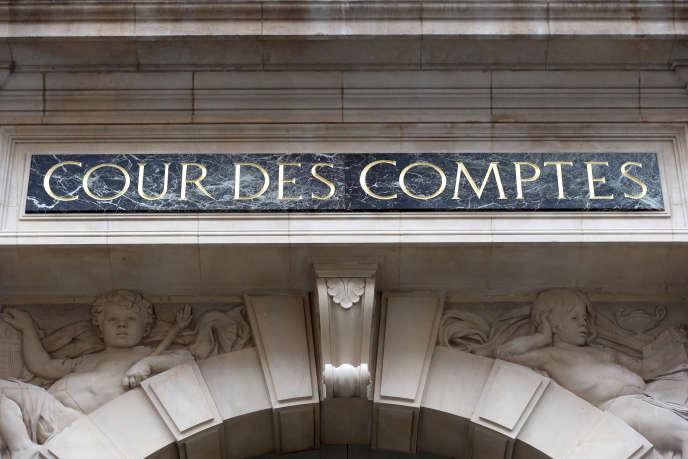 La façade de la Cour des comptes, en janvier 2013.