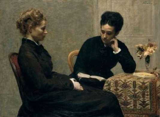 Henri Fantin-Latour, «La Lecture», 1877, huile sur toile (97,2 x 130,3 cm).