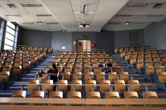 Université de Caen, en septembre 2015. AFP PHOTO / CHARLY TRIBALLEAU / AFP PHOTO / CHARLY TRIBALLEAU