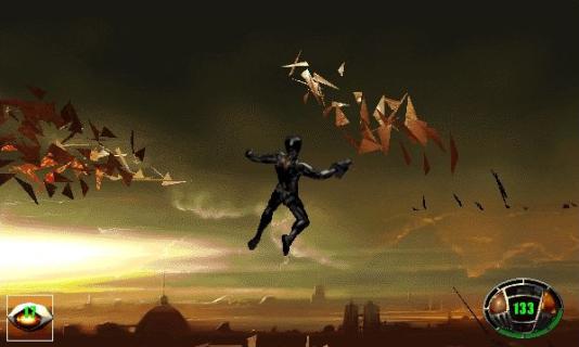 «MDK»,jeu d'aventure sur ordinateur aux ambitions mégalomaniaques pour l'époque (1997).