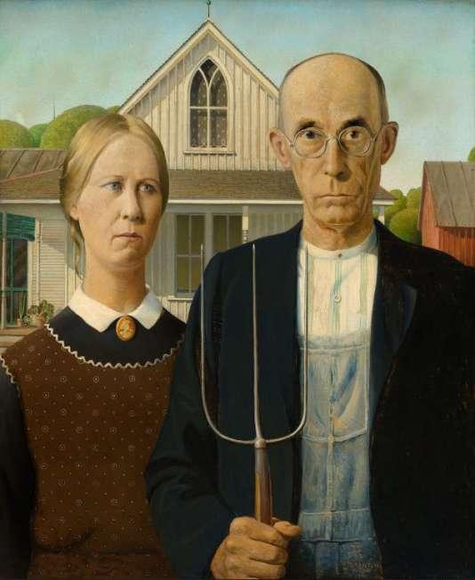 Grant Wood (1891-1942), «American Gothic», 1930.