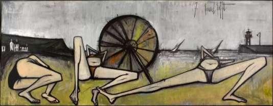 Bernard Buffet, «Les Plages, Le Parasol»(1967).