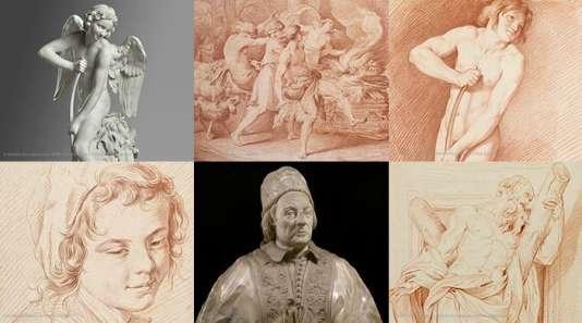 Dessins et sculptures d'Edme Bouchardon.