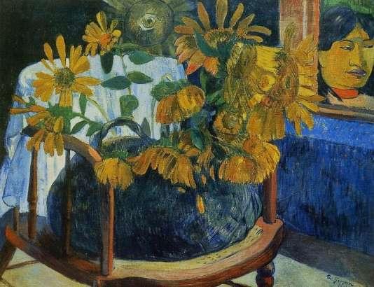 « Fleurs de tournesol dans un fauteuil» (1901), de Paul Gauguin.