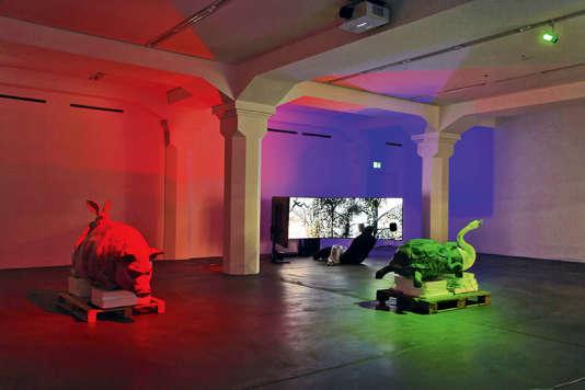 L'installation de Jon Rafman à laBiennale européenne d'art contemporain Manifesta 11, à Zurich.