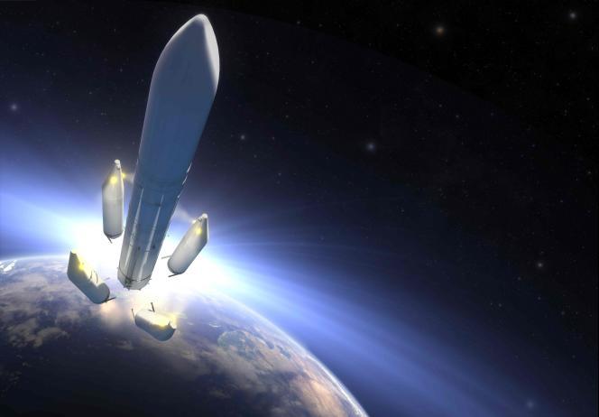 Image de la future Ariane-6.Airbus Safran Launchersa quatre ans pour fabriquer le successeur d'Ariane-5.