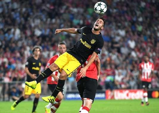 Koke, de l'Atlético Madrid, lors du match face au PSV Eindhovenmardi soir.
