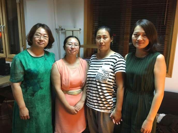 De gauche à droite : Wang Qiaoling, Chen Guiqiu, Yuan Shanshan, Li Wenzu.