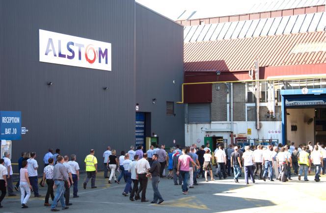 Les employées d'Alstom, le 13 septembre à Belfort.