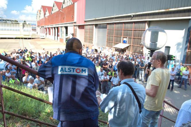 L'entreprise Alstom, le 13 novembre.