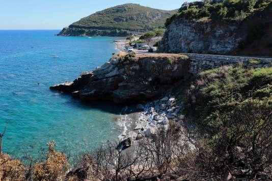 La plage de Sisco en Corse, le 14 août.
