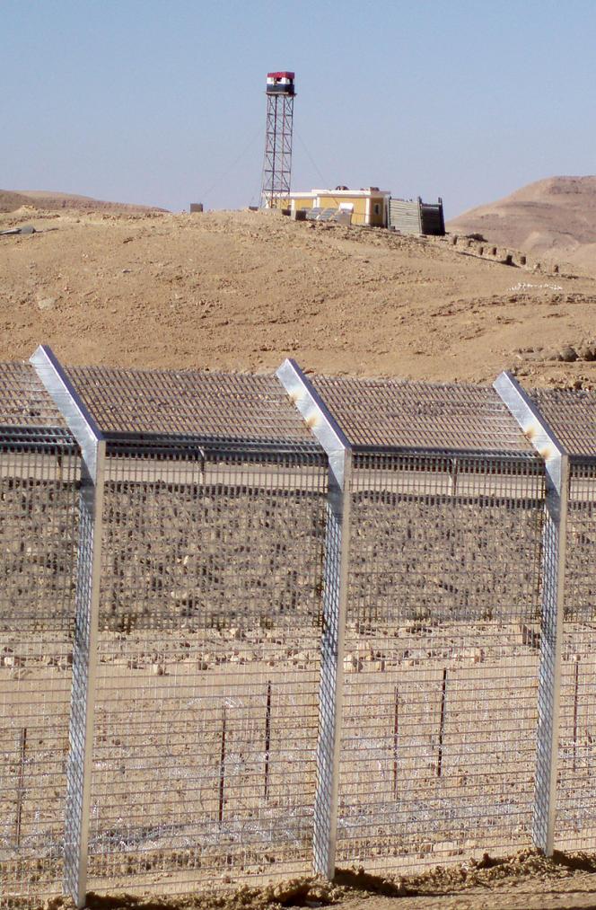 Une tour de guet égyptienne à la frontière avec Israël, en 2011.