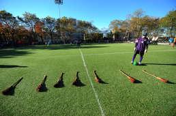 Un terrain de quidditch, juste avant un match de Coupe du monde, en novembre 2010, qui se tenait à New York.