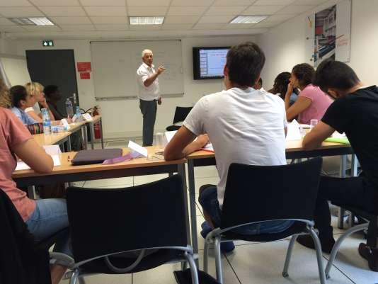Cours préparatoire pour sportifs de haut niveau à Sciences Po, le 13septembre.