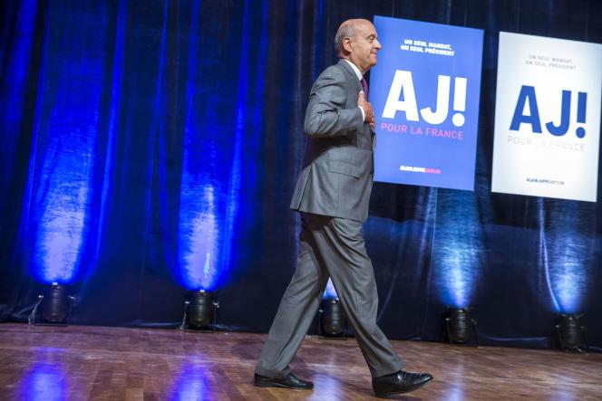 Premier grand meeting d'Alain Juppé, candidat à la primaire à droite, à Strasbourg, mardi 13 septembre.