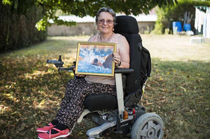 Béatrice Hess, chez elle à Colmar, 12 septembre.