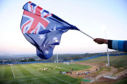L'équipe nationale australienne de football s'entraîne à Sandton, en Afrique du Sud, avant le Mondial, le 8 juin 2010.