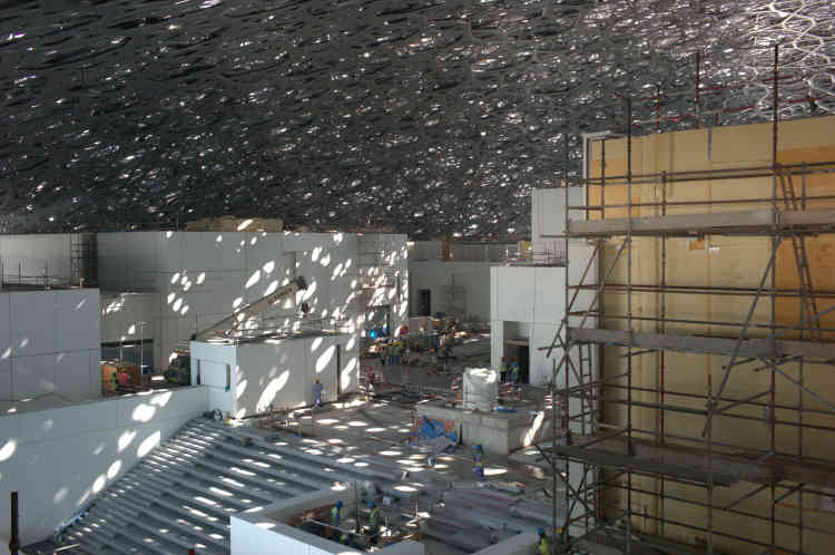 Vue du musée, en cours de chantier.