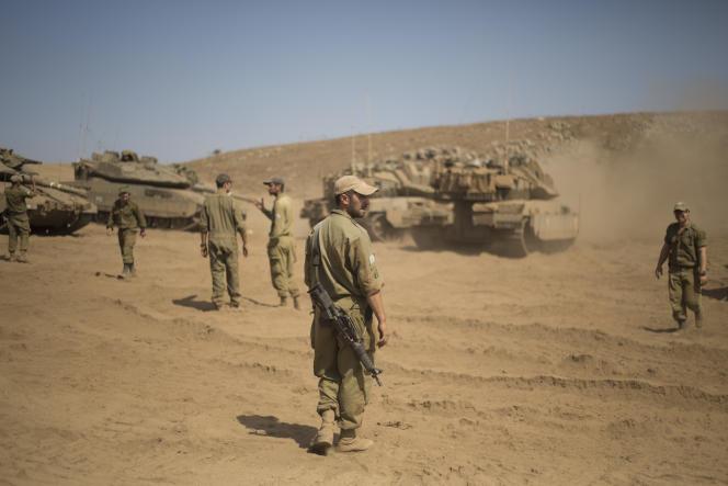 Des soldats israéliens, dans le Golan, le 13 septembre.