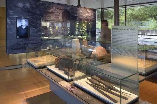 Vue intérieure du Musée de Bibracte, au mont Beuvray, en Bourgogne.