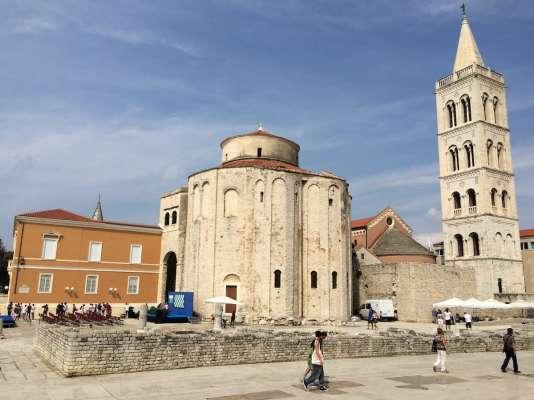 L'église Saint-Donat, à Zadar. Le tirage au sort avait lieu en bas, à gauche.