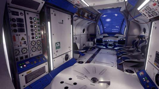 Votre capsule de survie hyper moderne, que vous allez devoir quitter pour embarquer dans un vaisseau aux allures de Minitel.