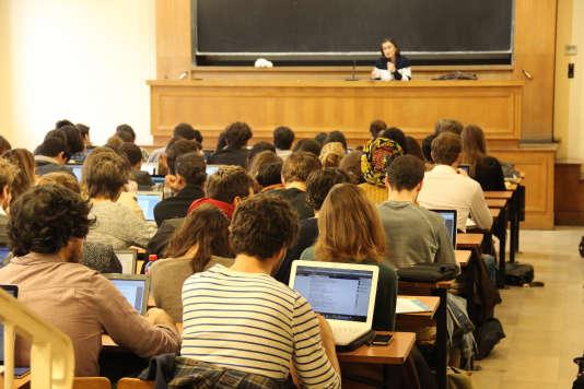 Un cours à l'université Paris-I-Panthéon-Sorbonne.