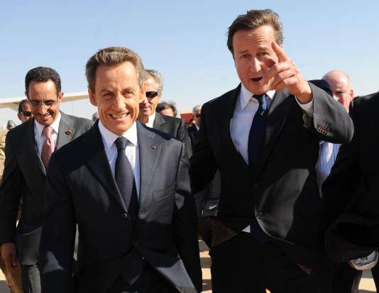 Nicolas Sarkozy etDavid Cameron à Benghazi le 15 septembre 2011.