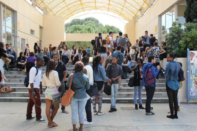 Université Montpellier-III Paul-Valéry, en avril 2014.