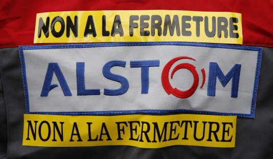 Manifestation contre la fermeture du site Alstom de construction de trains de Belfort, le 15 septembre.