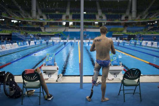Le nageur américain Dalton Herendeen lors des jeux paralympiques de Rio, mercredi 14 septembre.