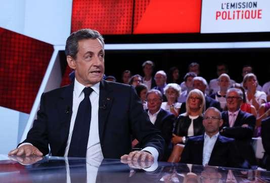 Le candidat de la primaire à droite Nicolas Sarkozy était l'invité de« L'Emission politique» sur France 2, jeudi 15 septembre.