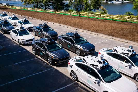 Dernières séances de tests dans le centre de recherche de Uber à Pittsburgh le 13 septembre.