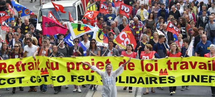 Manifestation contre la loi El Khomri, le 28 juin à Nantes.