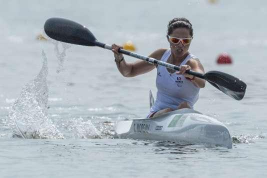 Cindy Moreau a décroché le bronze en canoë, la toute première médaille française dans cette discipline.