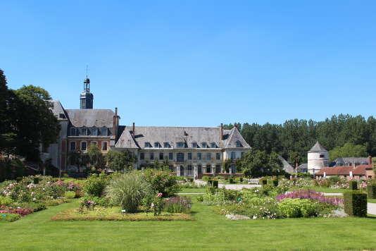 L'abbaye de Valloires et son jardin dans la Somme.
